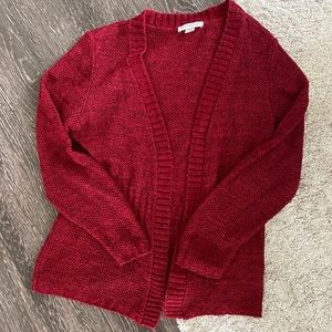 Christopher & Banks Women's Red Cardigan Sweater M